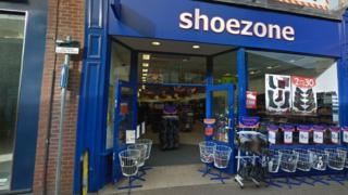 Shoe Zone store in Leicester city centre