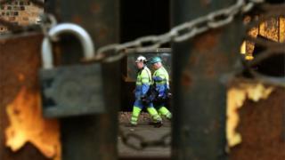 Tata Steel plant in Motherwell
