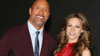 The Rock (Dwayne Johnson) and Lauren Hashian