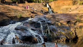 Arroyo situado cerca de la ciudad de Palmas, Brasil.