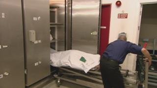 Staff at Edinburgh City Mortuary