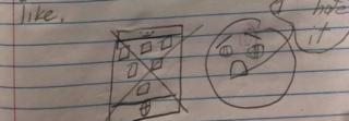 બાળકે દોરેલું મોબાઈલ ફોનનું ચિત્ર