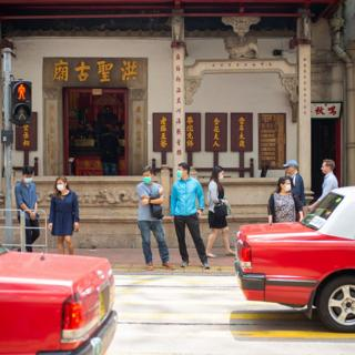 Street scene in Hong Kong