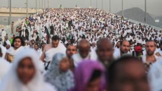 Pilgrims in Mina near Mecca on 24 September 2015