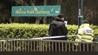 Police at Marine Park Gardens in Bognor Regis