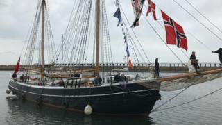 Williams II Tall Ship arriving home in Blyth