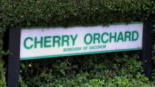 Cherry Orchard sign