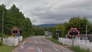 Level crossing on Dalfaber Drive in Aviemore