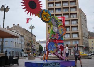 Art installation on The Korzo