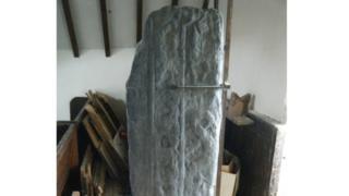 Viking-era standing stone in Malew Church