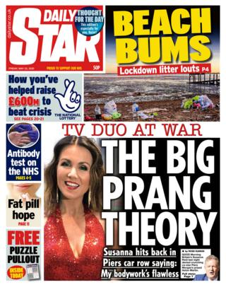 The Daily Star front page 22/05/20