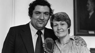 John Hume with his wife Pat after his election to the European Parliament in 1979