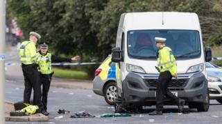Van hits cyclist