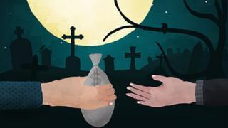 Pintura 'Dinheiro no Cemitério'