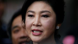 Former Thai prime minister Yingluck Shinawatra speaks to the media as she arrives to deliver closing statements in her trial for alleged criminal negligence over her government's rice-pledging scheme at the Supreme Court's Criminal Division for Persons Holding Political Positions in Bangkok, Thailand, 1 August 2017.