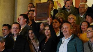 Toma de protesta en Bolivia