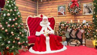 Santa in a grotto in Tunbridge Wells