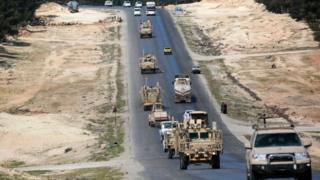 US military vehicles in Syria