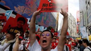 香港抗議示威