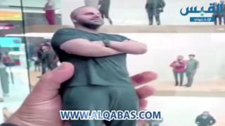 Screen grab from Al-Qabas news showing 3D printed figure