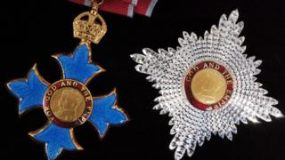 The Medal and insignia of the Knight of the Order of the British Empire