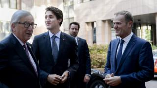 Justin Trudeau in Brussels