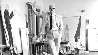 David Hockney in his studio circa 1967