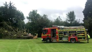 fire engine at golf course
