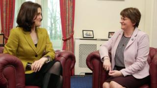 Theresa Villiers and Arlene Foster