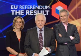 Emily Maitlis, David Dimbleby, Jeremy Vine covering the 2016 EU refernedum