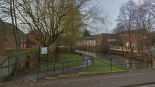 A canal path, off Nottingham Road, Ilkeston, Derbyshire
