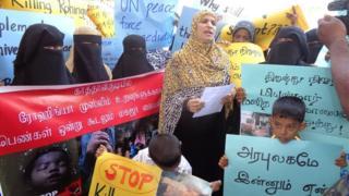 ரொஹிஞ்சா முஸ்லிம்களுக்கு ஆதரவாக இலங்கையில் முஸ்லிம் பெண்கள் குரல்