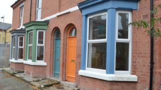 Renovated houses on Cairns Street, Liverpool