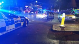 Scene of crash in Harringey