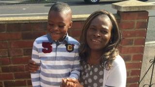 Joel Urhie and his mother Iroroefe Urhie