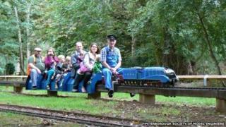Miniature railway, Thorpe Hall, Peterborough
