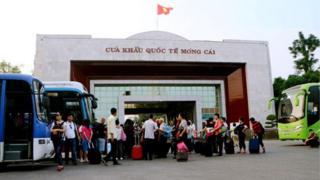 Móng Cái là một trong các cửa khẩu chính trên biên giới Việt-Trung