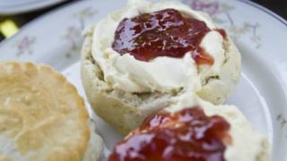 Cream tea with cream on first