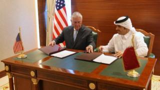 الولايات المتحدة وقطر توقعان مذكرة تفاهم لمحاربة الإرهاب وتمويله