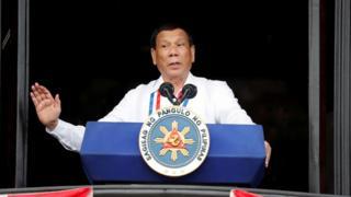 Tổng thống Philippines Rodrigo Duterte phát biểu tại lễ kỉ niệm 120 năm độc lập của Phillipines hôm 12/6