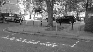 East London 'drug dealers only' parking space