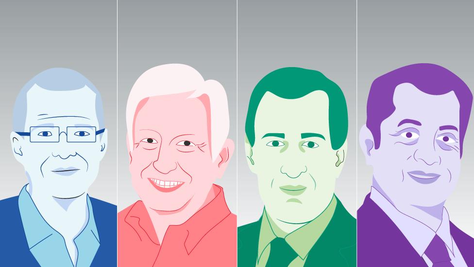 Los cuatro candidatos a las elecciones mexicanas.