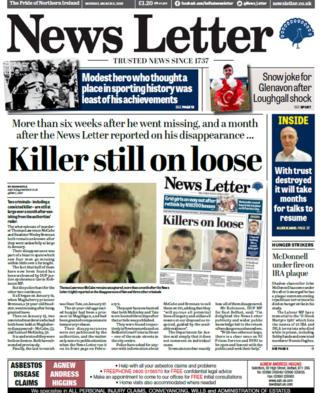 News Letter front page Monday 5 March