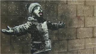 ဗြိတိန် နာမည်ကျော် အနုပညာရှင်တဦးရဲ့ graffiti လက်ရာ