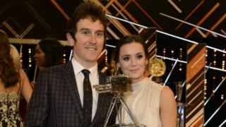 Geraint Thomas and wife Sara Elen Thomas