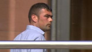 Paul Gallon outside Newcastle Crown Court at a previous hearing