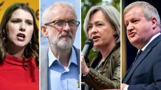 رهبران احزاب ملی اسکاتلند و ولز در کنار رهبران کارگر و لیبرال دموکرات