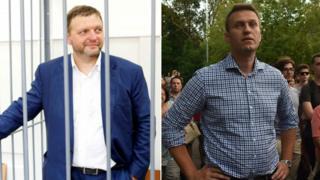 Никита Белых и Алексей Навальный