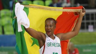 Astou Traore #10 of Senegal walks off the court after Senegal lost 95-88 to Serbia during the Womens Preliminary Round on Day 9 of the 2016 Rio Olympics on August 14, 2016 in Rio de Janeiro, Brazil.