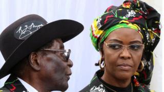 Rais Mugabe na mkewe Grace